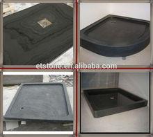 black granite shower tray cover , shower tub surround, bathroom accessory