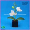 Mini-atacado vaso de orquídea flores artificiais para decoração