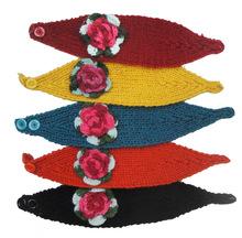 Knitted Headbands Multicolor Flower Ear Warmer Hair Bands