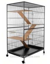 New Model 3-Level Wooden Ladder Metal Indoor Ferret Cage, Cat Cage