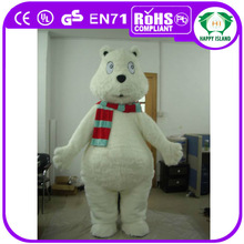 HI lovery 2014 adult white bear costum for adult