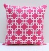 Pink geometric throw decor Chain Link pillow case,Couch pillow cover