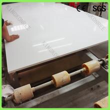 construction material quartz stone sheets / pure white artificial quartz for desk