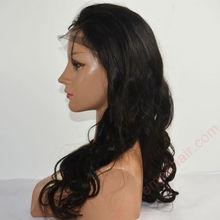 Natural texture black hair glueless silk top full lace wig