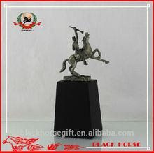Desktop bronze erotic samurai statue