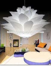 2014 best selling modern flower pp/pvc pendant lamp/chandelier crystals