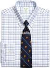 new design men plaid gents dress shirt