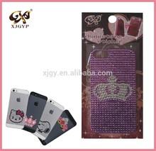customized phone sticker/diamond phone sticker/gem phone sticker