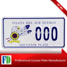 Ysleta Del Sur Pueblo Tigua Indians Texas souvenir license plate,switzerland license plate