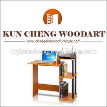 Mission Style Compact Dark Oak Simple Computer Desk/Cheap wooden computer desk