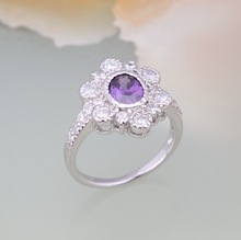 2014 new fashion purple mohave turquoise ring
