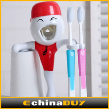 Innovative household toothbrush holder & automatic toothpaste dispenser with cup