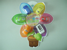 2014 Newly Transparent Flower Pull Back Mini Car 8 Assorted