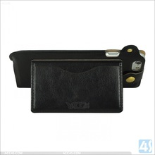For iphone 6 black flip leather pouch case