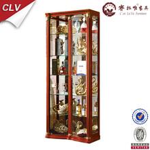 Home decor showcase design, glass vitrine display cabinet