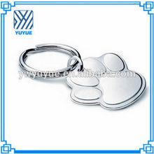 Foot shaped metal keychain /custom design zinc alloy keychain/custom made metal keychains