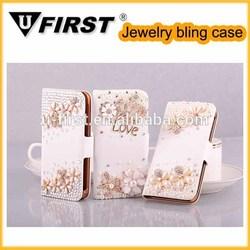 Wholesale Bling crystal phone case with shiny rhinestone beads