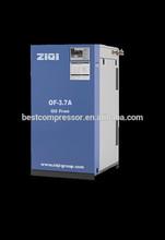 oil free screw air compressor energy saving