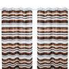 2014 fashion stripe polyester simple design grommet curtains