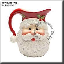 paint your own bisque santa claus milk pitcher