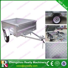 Hot dip galvanized steel cage trailer