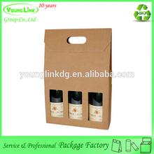 3 bottles paper custm wine set bag