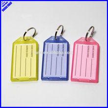 Hot-Sell cheap plastic blank insert paper key tags