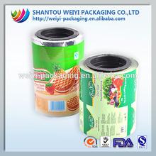 Custom design plastic sequin plastic film for food sachet