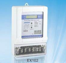 three phase kWh meter/industry digital meter/LCD display watt hour meter