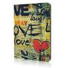 Graffiti LOVE Flip Leather Case For iPad mini 2 with Retina New Fashion Smart Stand Cover