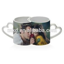 MEIKEDA 11oz Photo Printing Lover Couple sublimation white mug