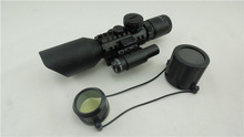 3-10X42E M9C Red Green Illuminated Tactical Riflescope w/ Side Mounted Laser Rifle scope Optics Scopes Hunting accessory