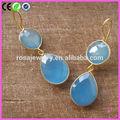 orecchino calcedonio blu donne orecchini disegni foto
