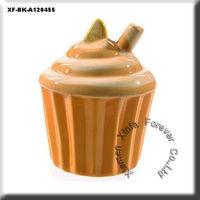 unfired ceramic cake money box