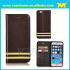 2014 new arraival 5.5 inch leather case for iphone 6 plus with strip