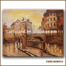 Impressionist paris street scene oil painting