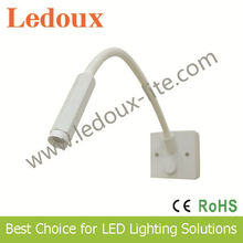 Yiwu stock plastic night led reading light sofa lamp bed table