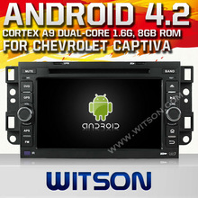 WITSON ANDROID 4.2 TOUCH SCREEN CAR DVD PLAYER FOR CHEVROLET EPICA/LOVA/CAPTIVA 2006-2011 WITH A9 CHIPSET 1080P