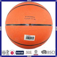 Popular design promotional good quality custom logo rubber basketball