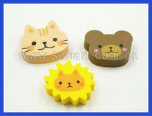 flat rubber eraser ,cat shaped eraser for student
