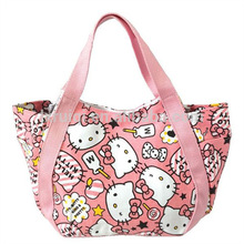 hello kitty pink cute canvas shopping bag