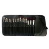 2014 fashion professional 17pcs high quality goat hair black colour handle make up/cosmetic set-NBP2001