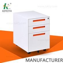3 drawer steel mobile cabinet office workstations