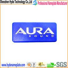 custom elaborate logo, embossed metal name plate design for car audio