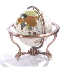There Stand 330 mm Decorative Gemstone World Map Globe