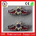 Piloto insignia del ala/cap badge/insignia con broche de mariposa( hh- badge- 514)