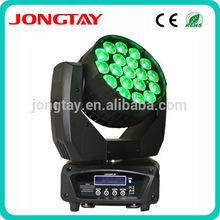 Hot 19 pcs RGBW 4 in 1 12W led zoom wash moving head light led move head light