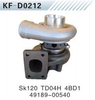 Excavator engine parts Kobelco SK120 TD04H 4BD1 Turbocharger