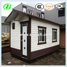movable modern 20ft used marine container house 40ft ocean container fashion home with wood wall sandwich panel inside