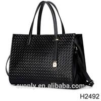 H2492 Weaving grain leather handbag contracted bag ladies handbags